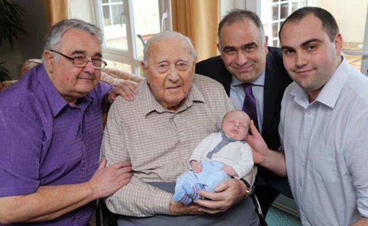 Beş nesil, bir aile. Dünyaya gelen bebek Ethan