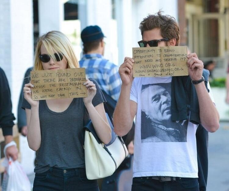 Emma Stone ve Andrew Garfield
