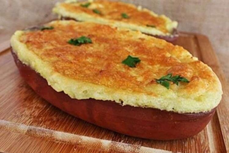 Fırında kaşarlı patates püresi tarifi