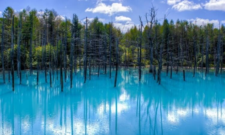 Mavi Gölet, Hokkaido, Japonya