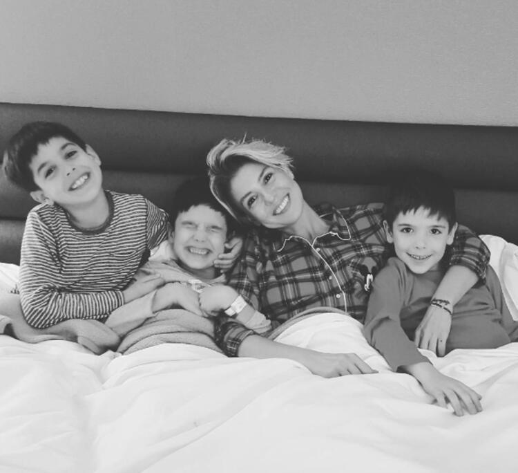 Gülben Ergenin çocukları Atlas, Ares, Güney