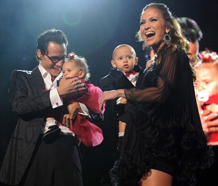 Jennifer Lopez ve Marc Anthony çiftinin ikizleri Max ve Emme