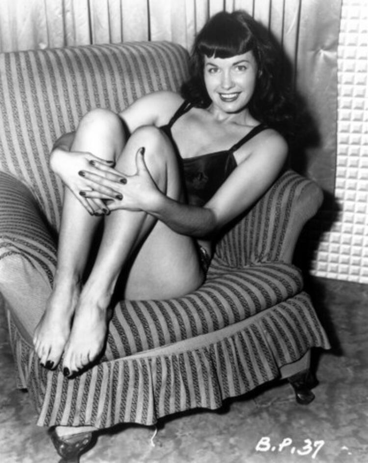 6. Bettie Page ve saç modeli