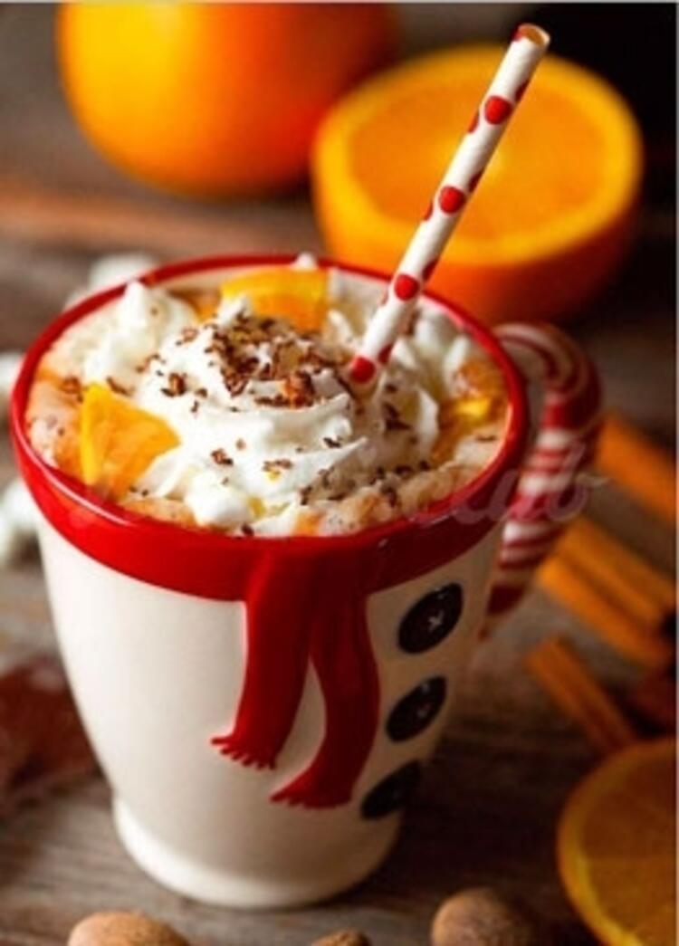 Portakallı sıcak çikolata