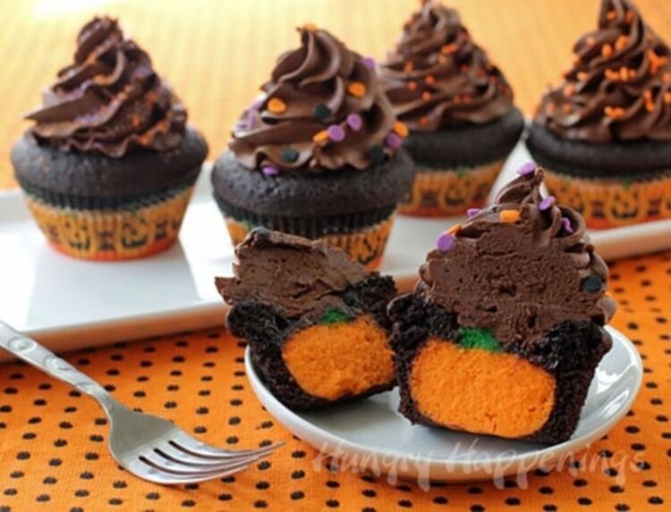 Balkabaklı cupcakeler