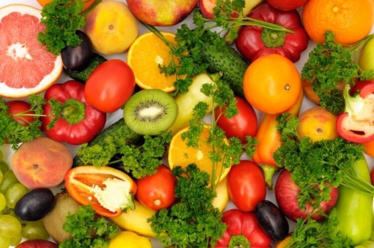 Sebze ve meyve tüketimine ağırlık verin