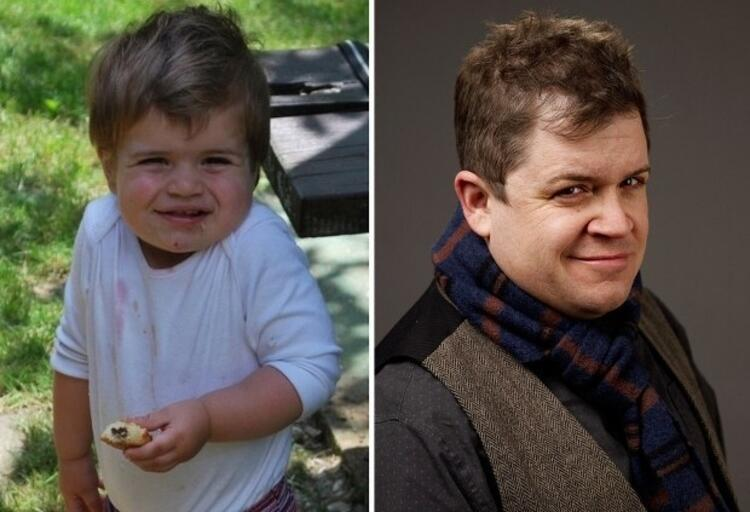 Patton Oswalta benzeyen bebek.