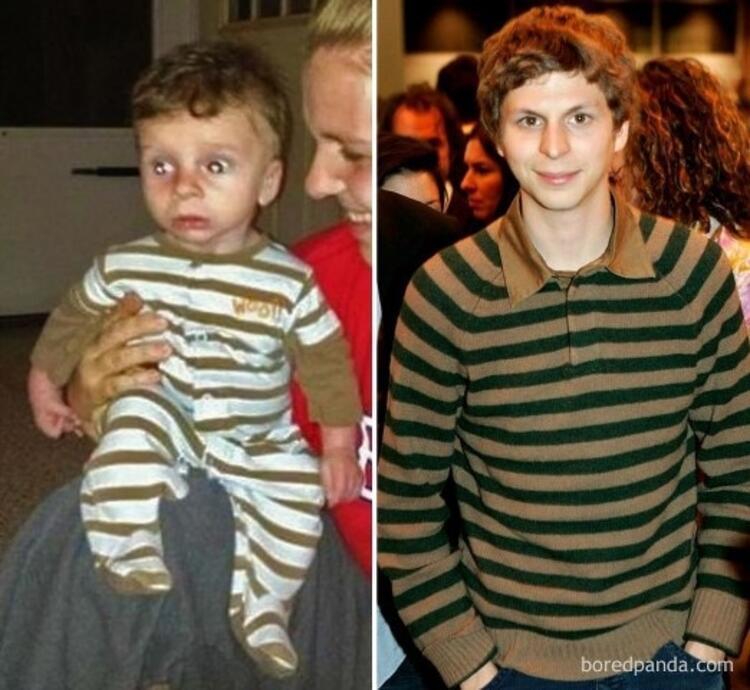 Michael Ceranın bebeklik fotoğrafı olabilir. Çünkü bu minik ona çok benziyor.