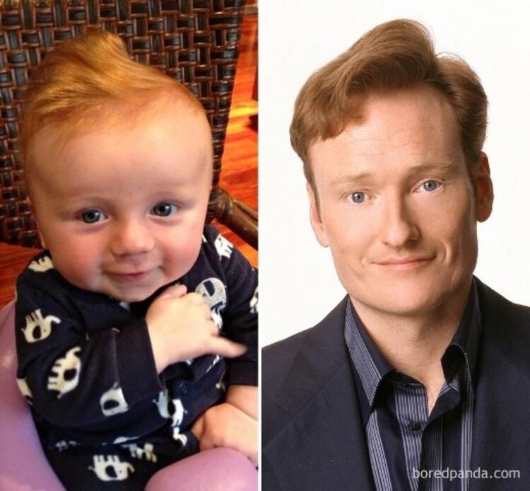 Bu bebek Conan OBriene benziyor.