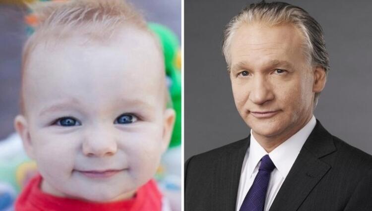Bebek komedyen Bill Mahere benziyor.