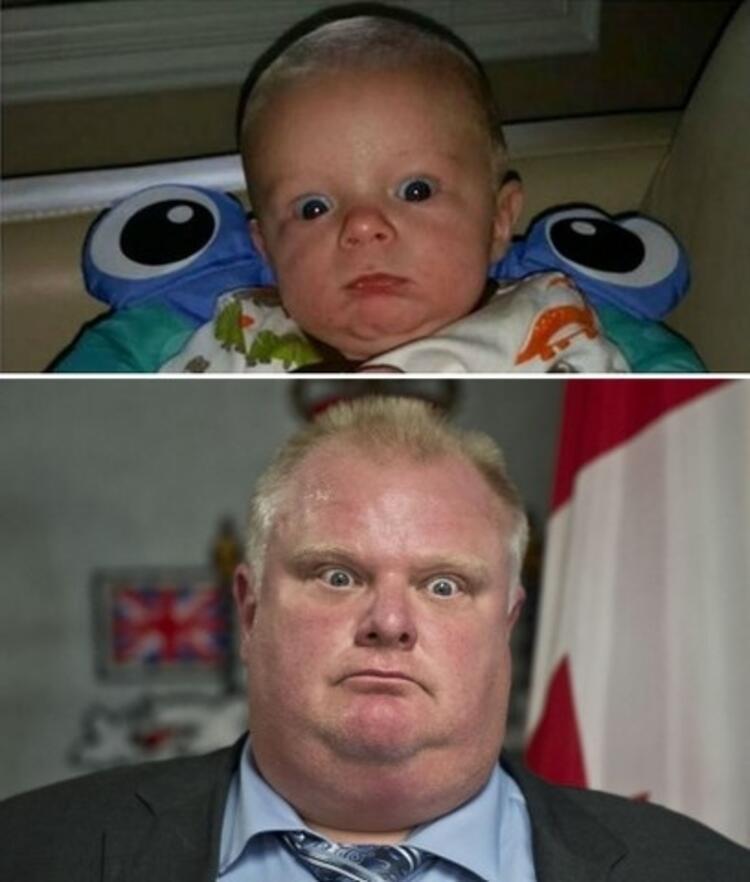 Bu Bebek Rob Forda benziyor.