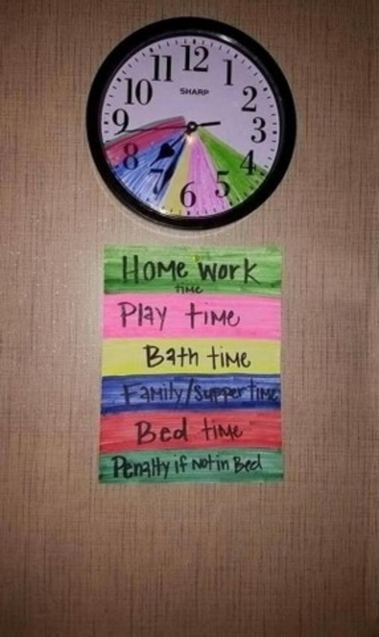 Zaman yönetimini renklerle öğretin.