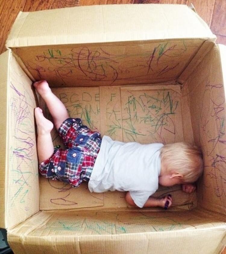 Boş kutuyu çocuğunuzun yaratıcılığına bırakın.