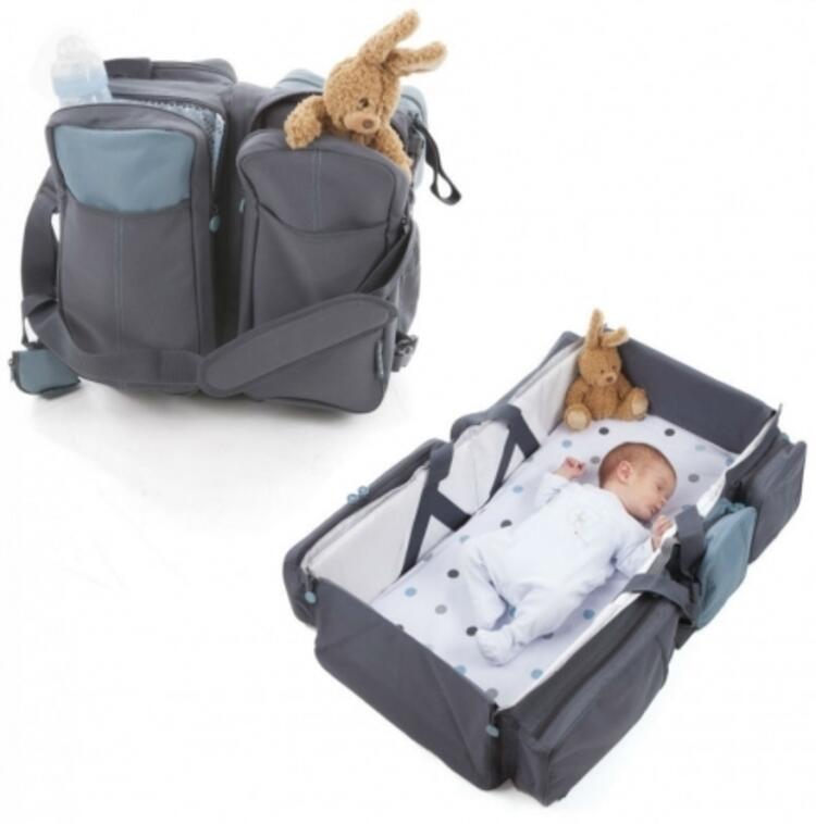 Çanta olabilen katlanabilir yatak