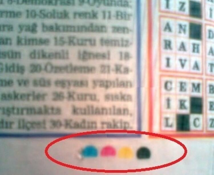 Gazetelerde Bulunan Renkler