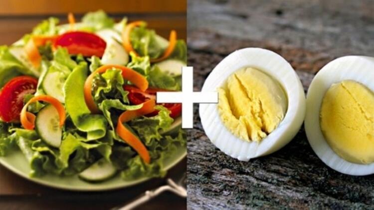 Çiğ sebzeler ve Yumurta