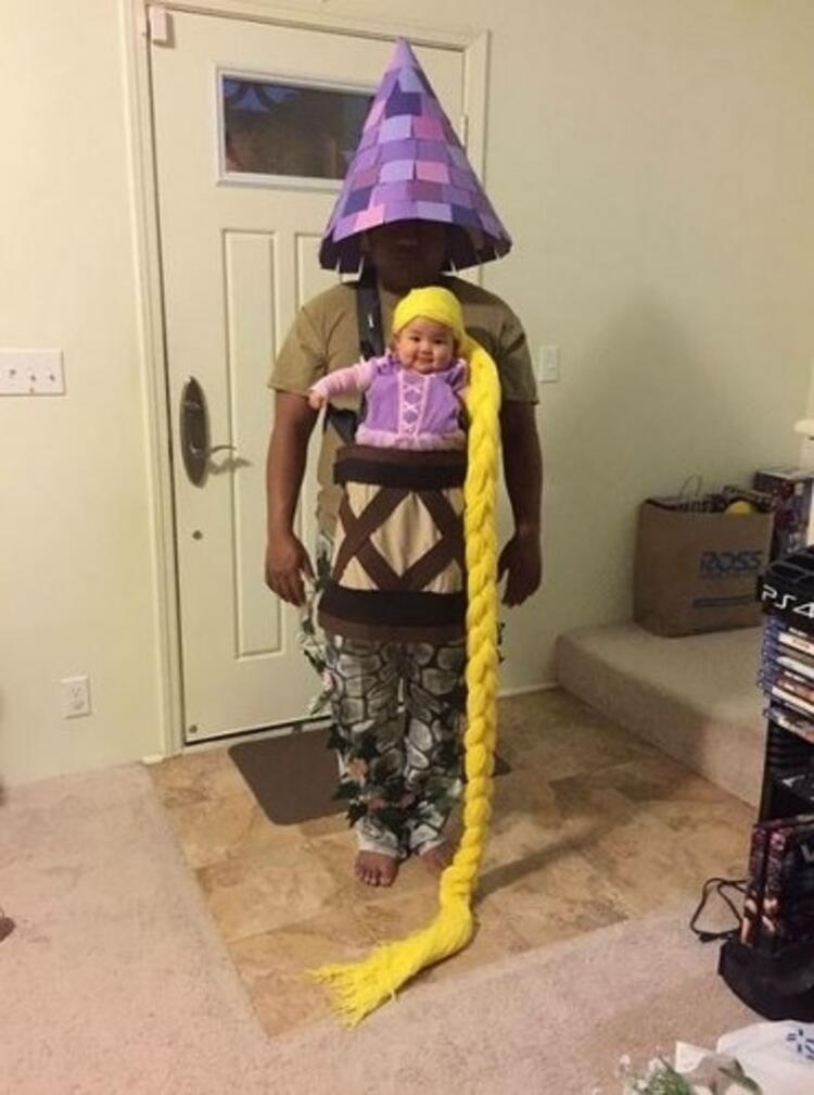 Bebek Rapunzel ve kulesi