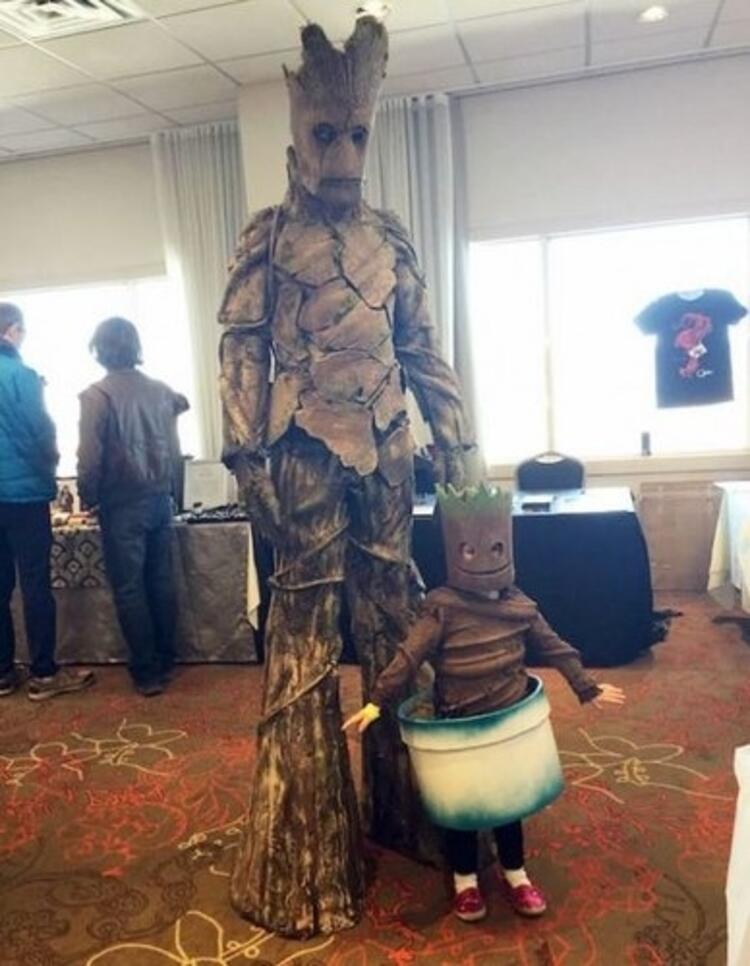Groot Ve Bebek Groot Kostümü