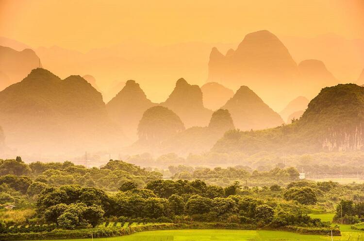 Karst Dağları, Guangksi, Çin