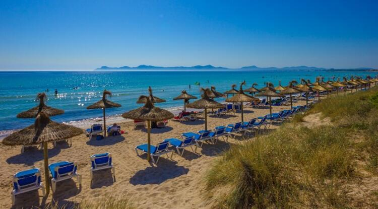 Playa de Muro Beach / Playa de Muro, İspanya