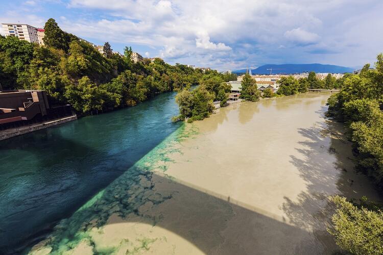 Rhone ve Arve Nehirleri, İsviçre