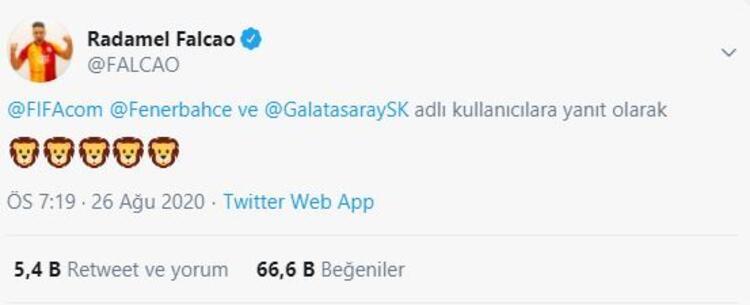 Galatasaraylı Falcaonun paylaşımı