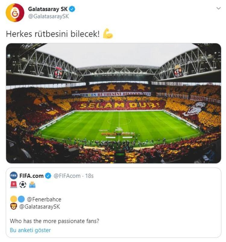Galatasarayın anket paylaşımı