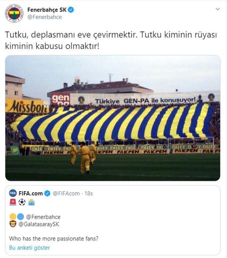 Fenerbahçenin anket paylaşımı