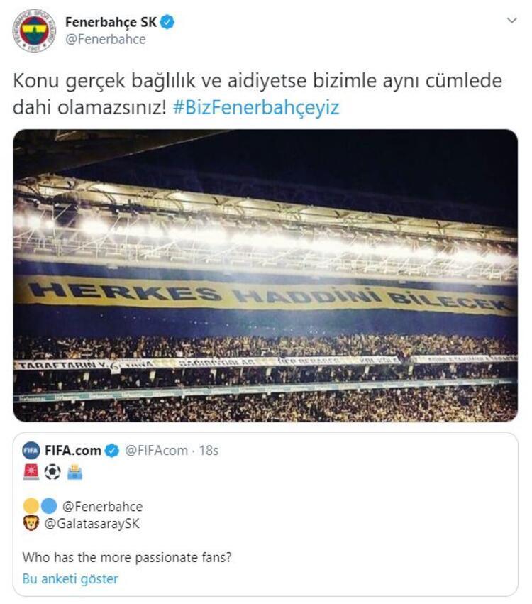 Fenerbahçenin anket sonucu paylaşımı