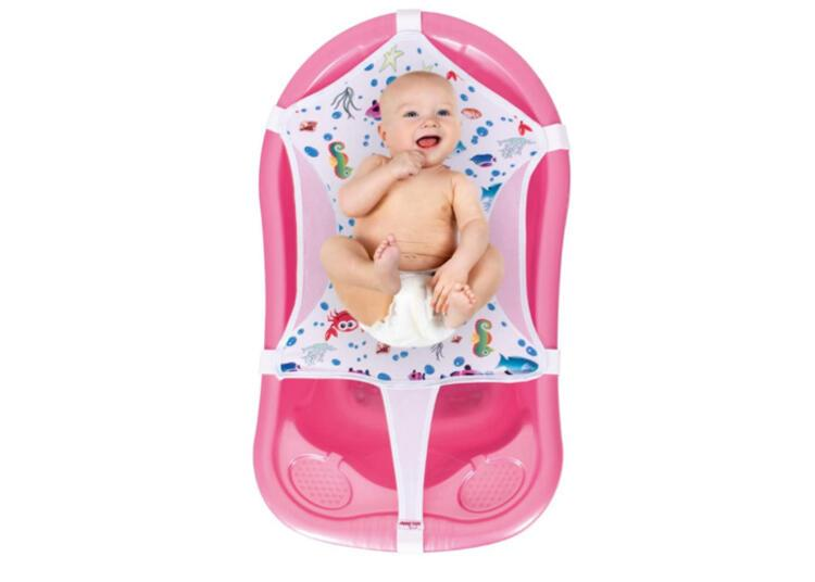 Sevi Bebe Desenli Havlu Bebek Banyo Filesi, Çok Renkli