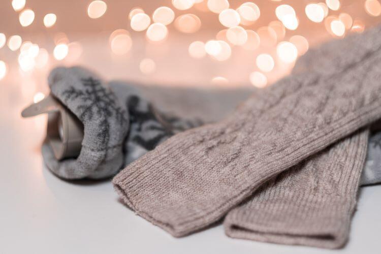 Örgü çorap patiklerle kışa sağlam adımlar