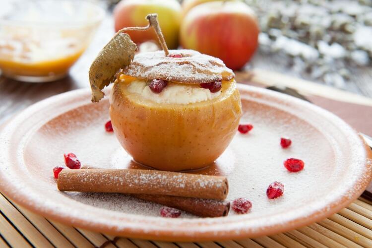 Muhallebili elma sürprizi tarifi