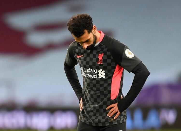 Liverpoolun gollerini atan Mısırlı yıldızı Mohamed Salahın maç sonu üzüntüsü