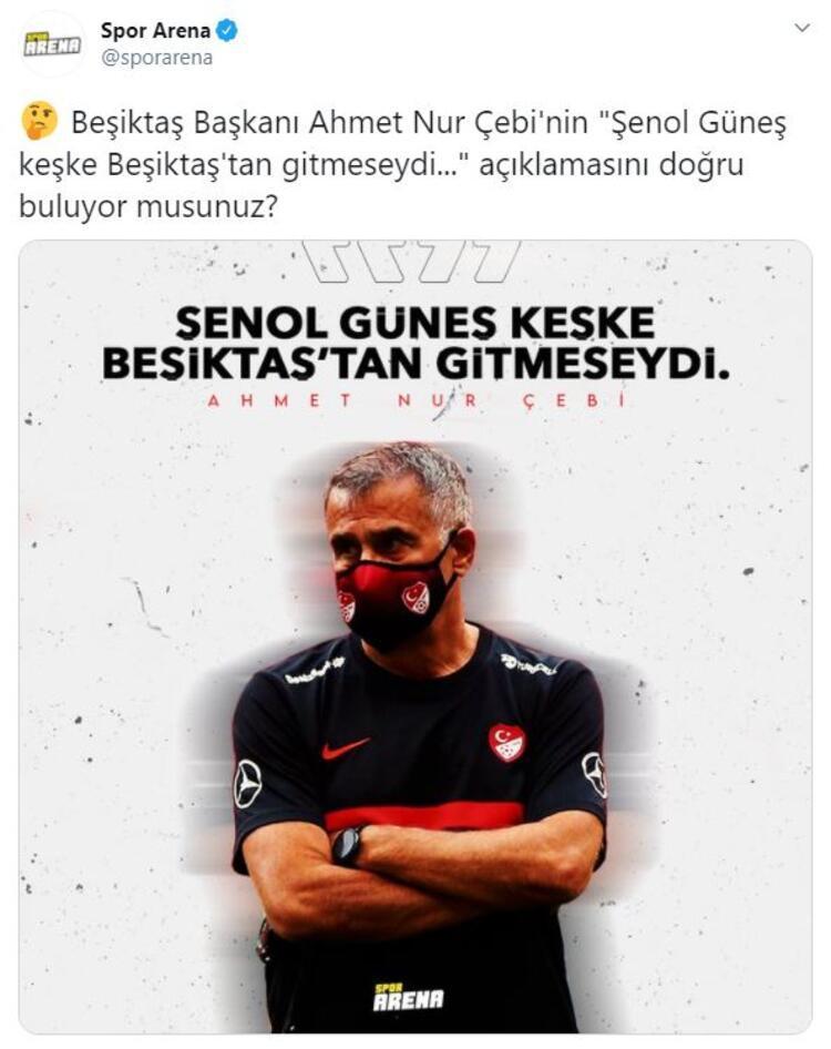 Spor Arena olarak Çebinin bu açıklamasını sosyal medyaya sorduk: