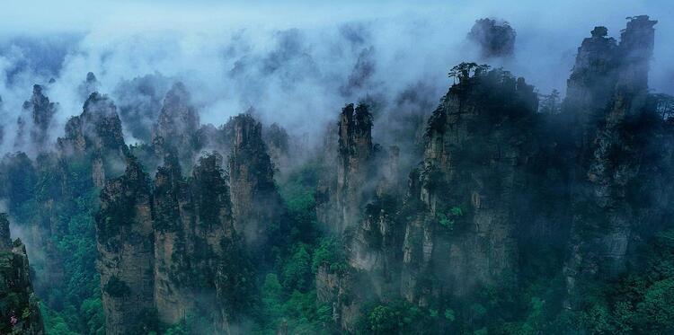 Çin'deki Tianzi Dağları