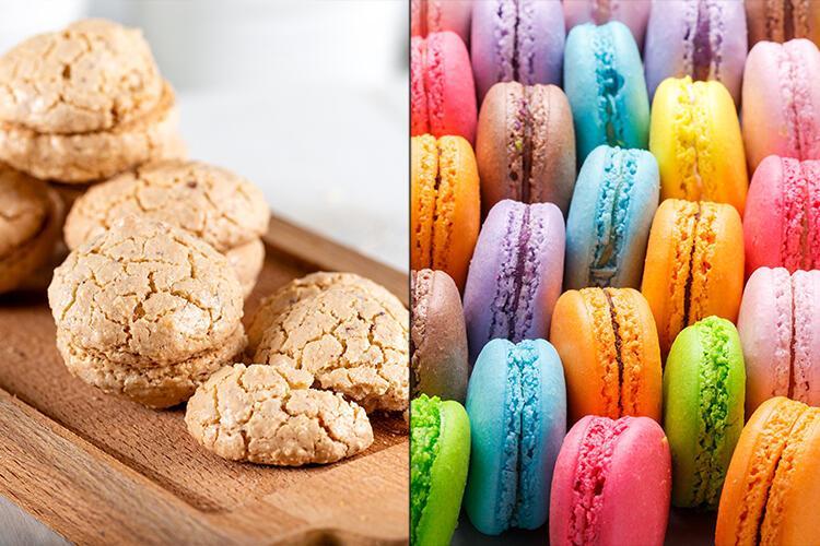 Macaron-Acı badem kurabiyesi