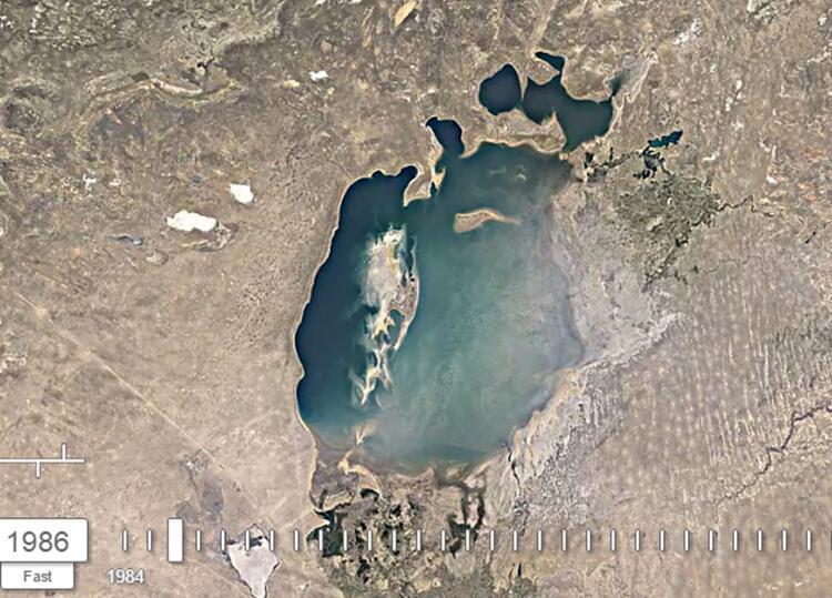 Google yayınladı: Aral Gölü 36 yıl içinde bu hale geldi 21