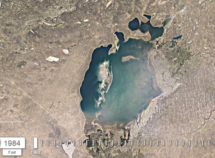 Google yayınladı: Aral Gölü 36 yıl içinde bu hale geldi 17