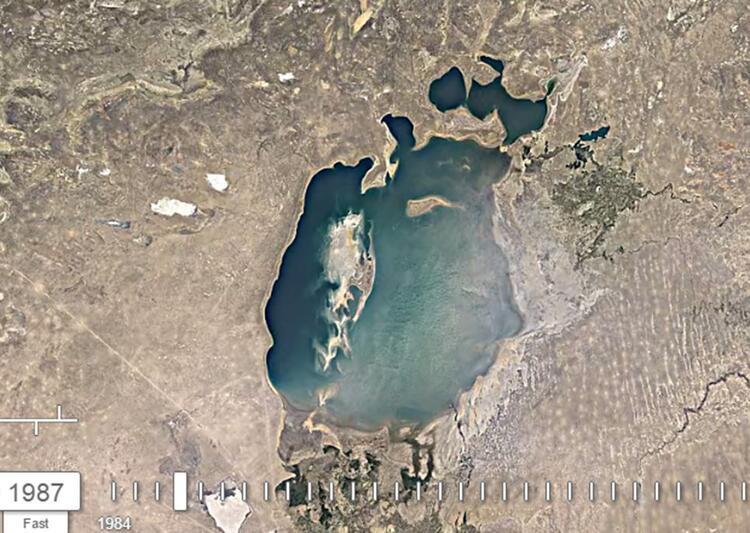 Google yayınladı: Aral Gölü 36 yıl içinde bu hale geldi 23