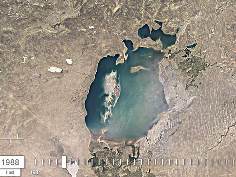 Google yayınladı: Aral Gölü 36 yıl içinde bu hale geldi 25