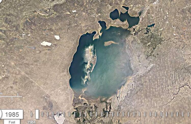 Google yayınladı: Aral Gölü 36 yıl içinde bu hale geldi 19