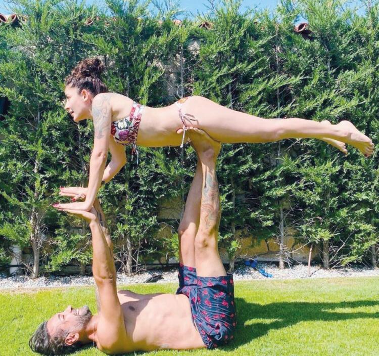Sahne öncesi  acro yoga