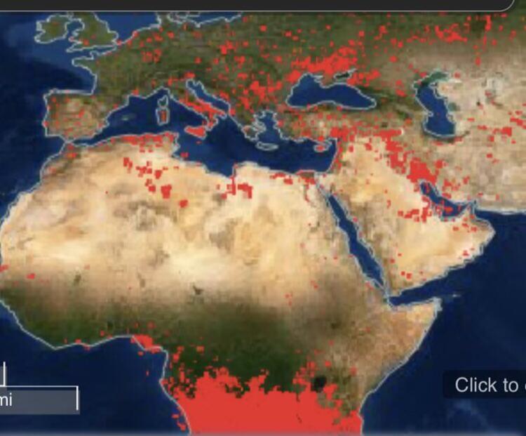 nasa uydusunun orman yangınlarının tesbiti