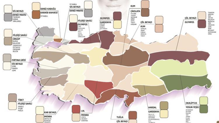 Turkiye Nin Renk Haritasi Cikarildi