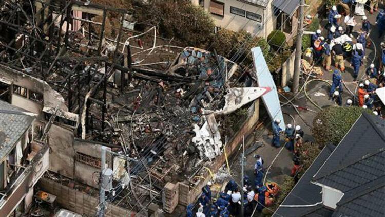 Japonya'da yerleşim alanına özel uçak düştü: 3 ölü