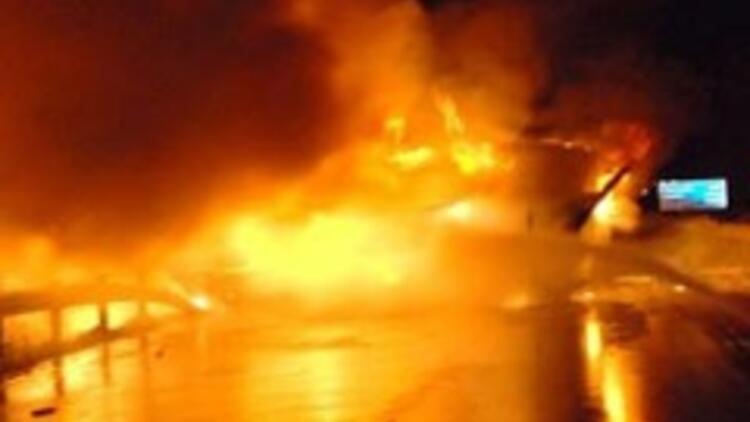 Tanker kazası: 2 ölü