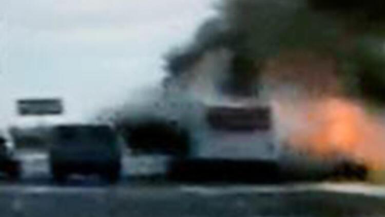 """Rusya'da """"Kara dul"""" otobüsü havaya uçurdu"""