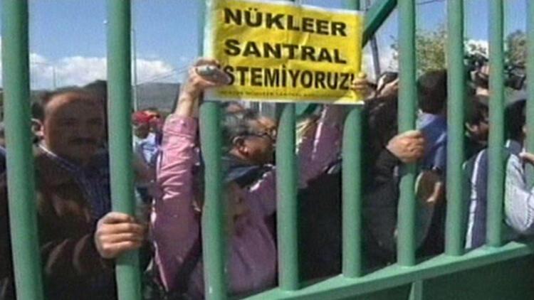 Nükleer Santral töreni sonrası eylem