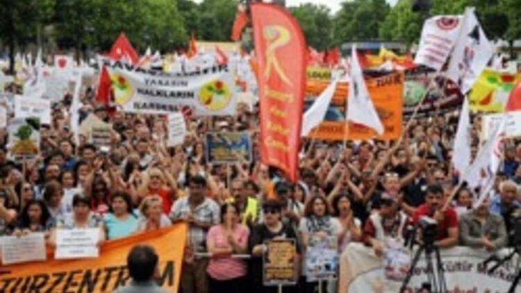 Köln'de Gezi eylemi
