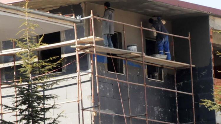 SGK inşaatında iş güvenliksiz çalışma
